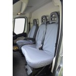 Fiat Ducato Front & Rear Seat Covers - Grey