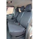 Fiat Talento Front & Rear Seat Covers - Black
