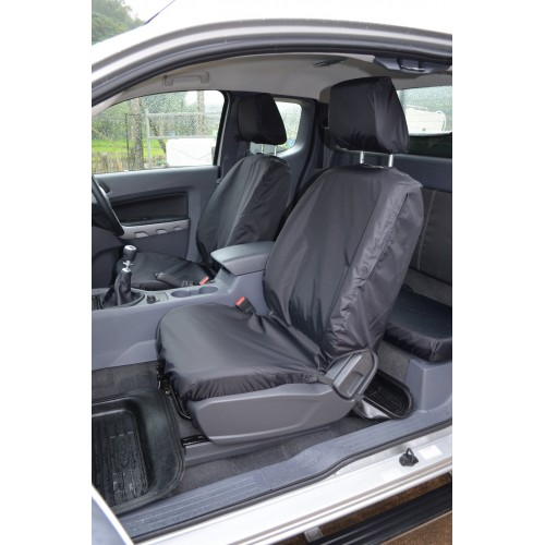 ford ranger front rear seat covers black. Black Bedroom Furniture Sets. Home Design Ideas